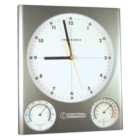 Analog Hygrometer With Clock, Traceable, 1079