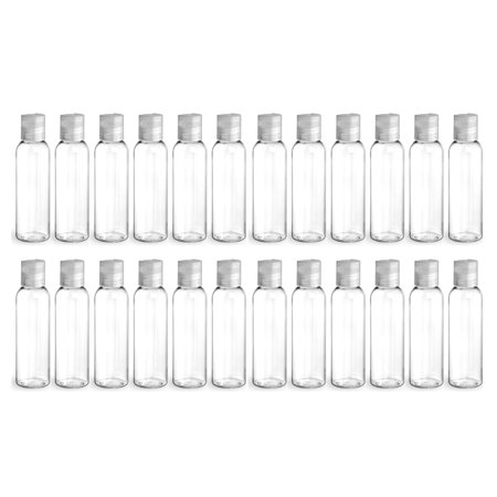 a835733c2561 Clear PET Plastic Bottle - Cosmo 240 ml (8 oz) - 24/410 Neck - with Natural  Plastic Flip Disc Cap and Induction Seal - P - Walmart.com