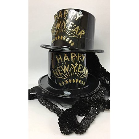 New Years Eve Party Package Top Hats with Leis Party Supplies Accessories (New Years Eve Hats Bulk)