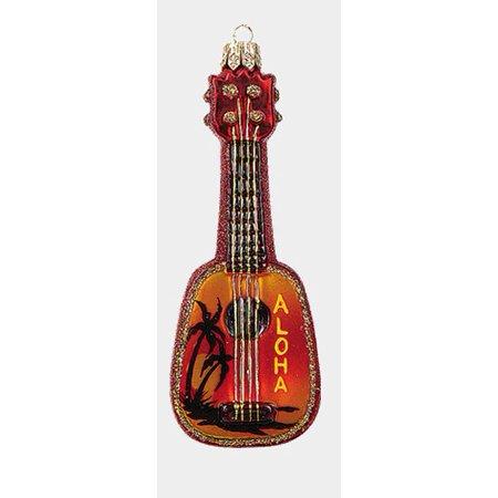 Hawaiian Ukulele Polish Glass Christmas Ornament Musical Instrument Decoration](Musical Instrument Decorations)