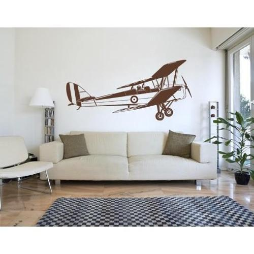 Style and Apply Biplane Wall Decal Vinyl Art Home Decor