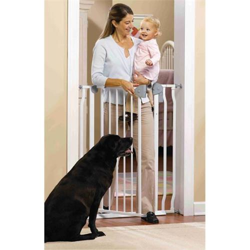 GMI 13-420-10 GuardMaster IV 420 Extra Tall Steel Gate with Alarm - Top Of Stairs Rated