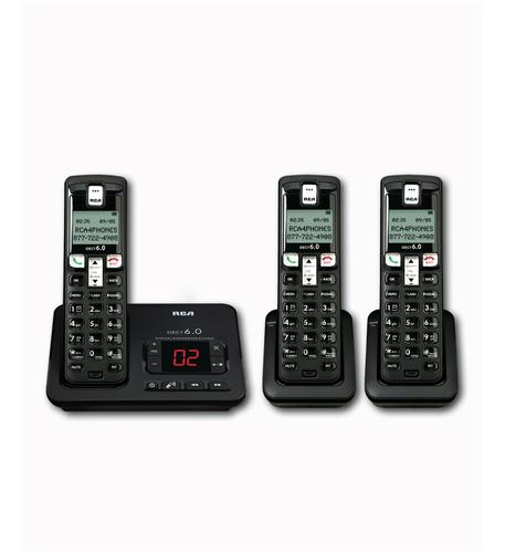 RCA 2102-3BKGA DECT 6.0 Cordless Phone with Caller ID & Digital Answering System (3-Handset System)