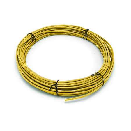 THE CIMPLE CO - Solid Copper Grounding Wire | Proudly Made in America | Ground Protection Satellite Dish Off-Air TV Signal | UV Jacketed Antenna Electrical Shock # 10 Gauge AWG THHN | Yellow 200 (Best Dish Tv Service)