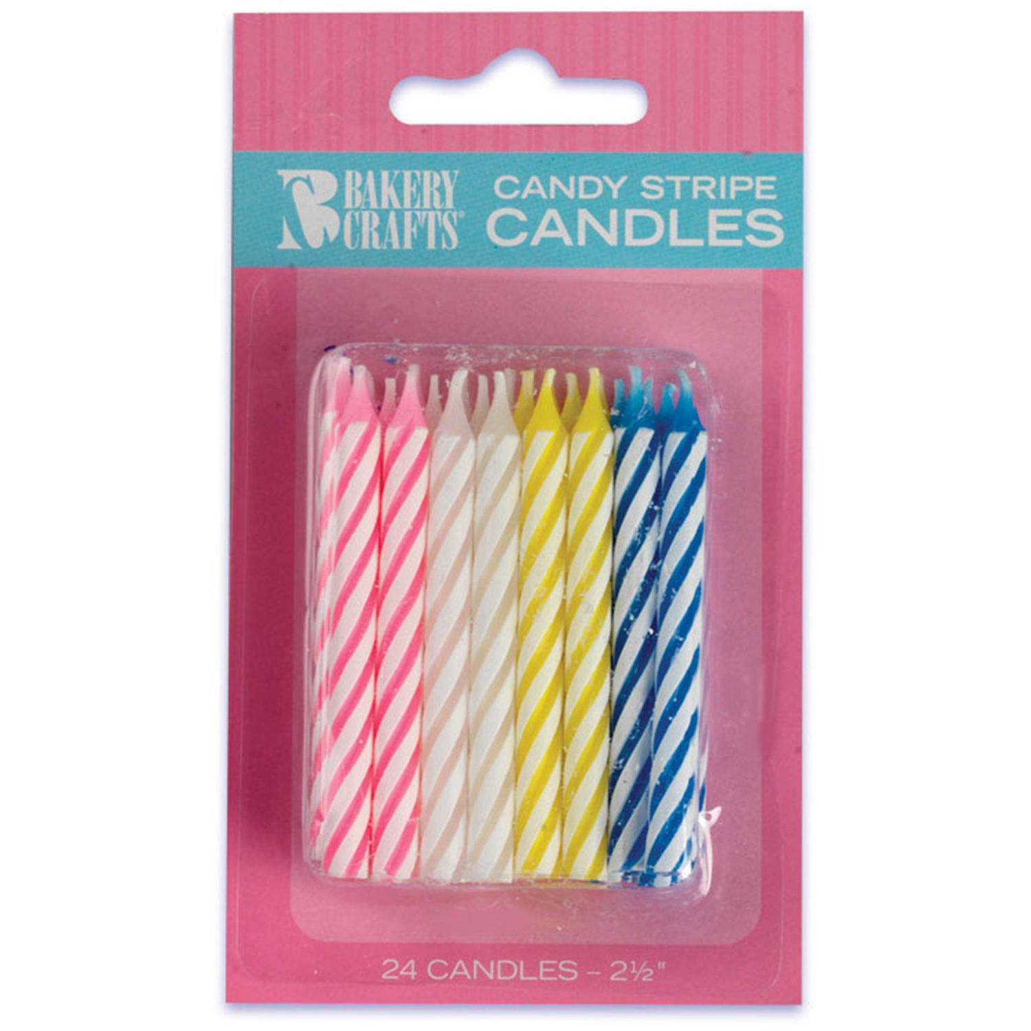 Assorted Birthday Candles 24pk