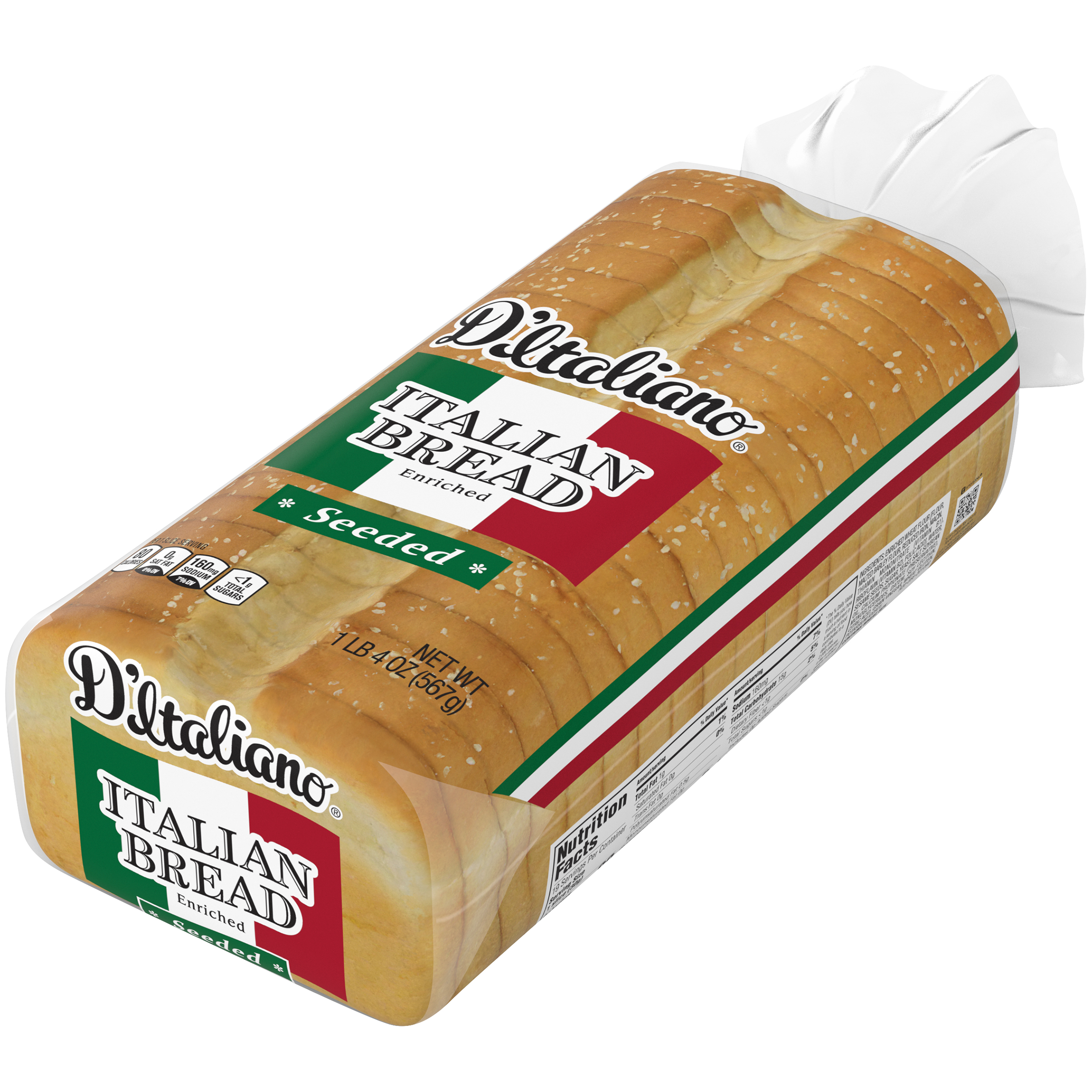 D Italiano Seeded Italian Bread 20 Oz Walmart Com Walmart Com