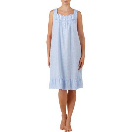 Secret Treasures Women's and Women's Plus Sleeveless Woven Traditional Sleep Gowns
