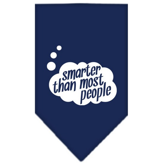 Smarter then most People Screen Print Bandana Navy Blue Small
