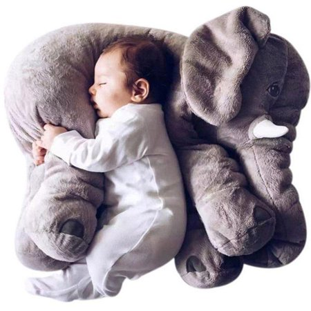 Best Stuffed Animals For Babies (Grey 24 INCH Cute Animal Pillow Elephant Children Soft Plush Toy Doll Baby Kids Birthday Gifts Plush Stuffed For Kids Sleeping)