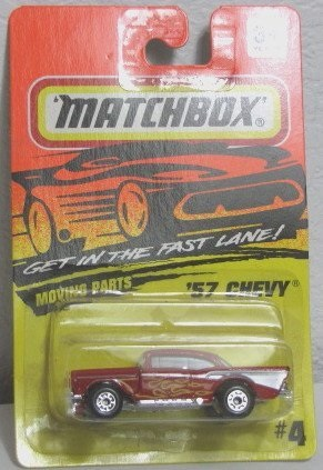 Matchbox Red Yellow Flames 57 1957 Chevy #4 1994 by