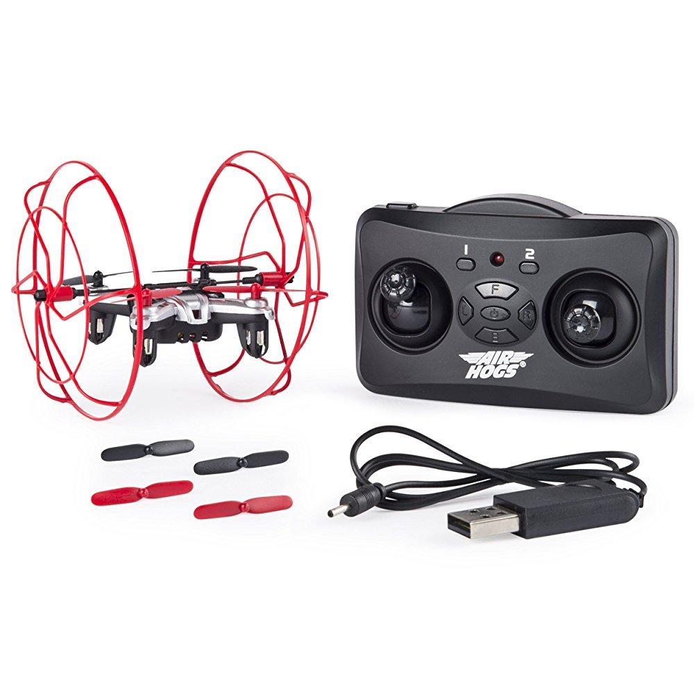Air Hogs Hyper Stunt Unstoppable Micro RC Drone Toy Remote Controlled Vehicles, Red by Air Hogs