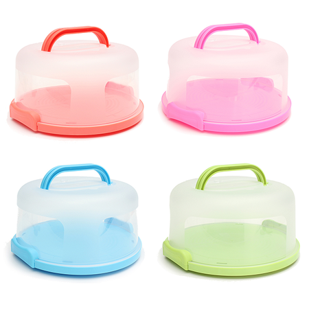 Portable Round Cake Stand Cake Carrier Storage Container With Translucent Dome and Holder Perfect for Cake Transportation, Cake Display, or Other Desserts ()