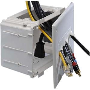 Datacomm Electronics 45-0010-WH Datacomm Recessed Media Box White - White