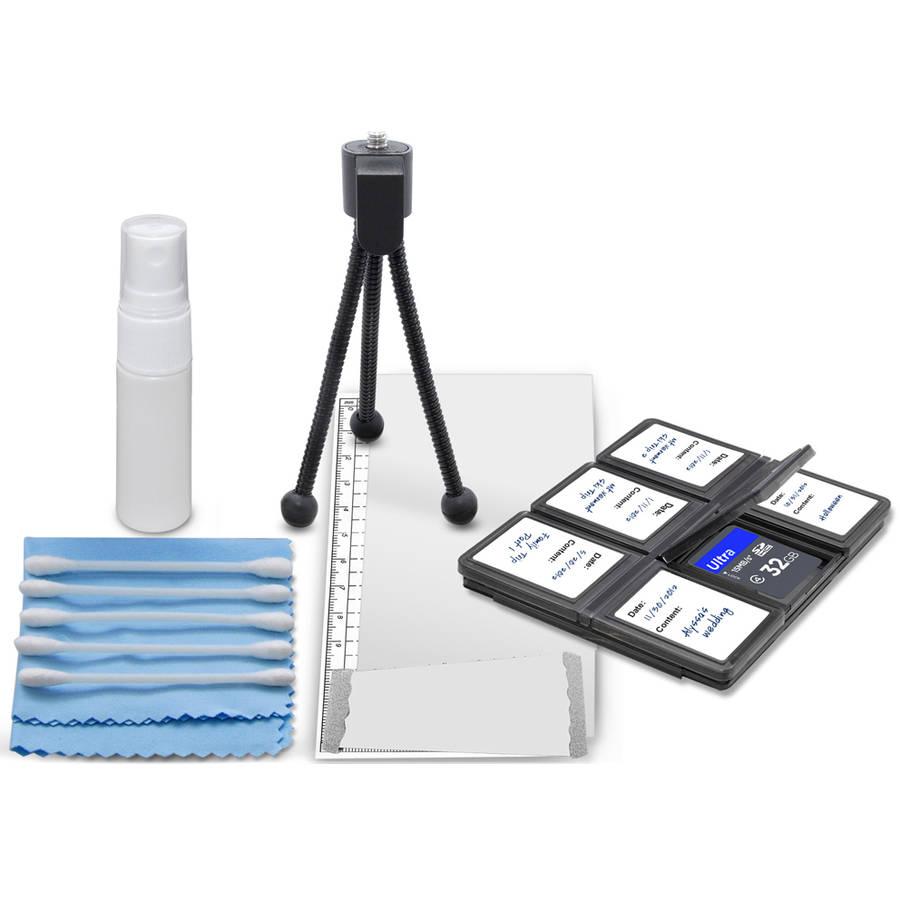 SD Memory Card Case Plus DSLR Cleaning Kit