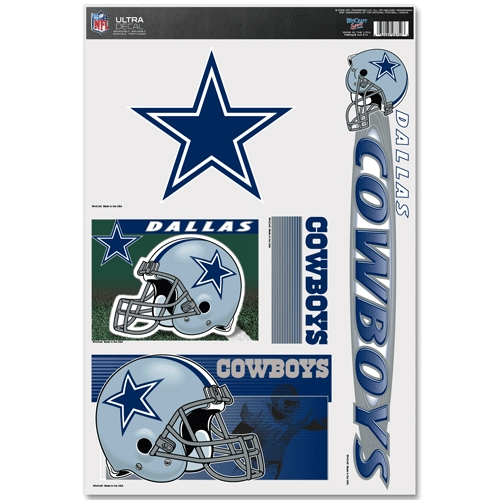 Dallas Cowboys Official NFL 11 inch x 17 inch  Car Window Cling Decal by Wincraft