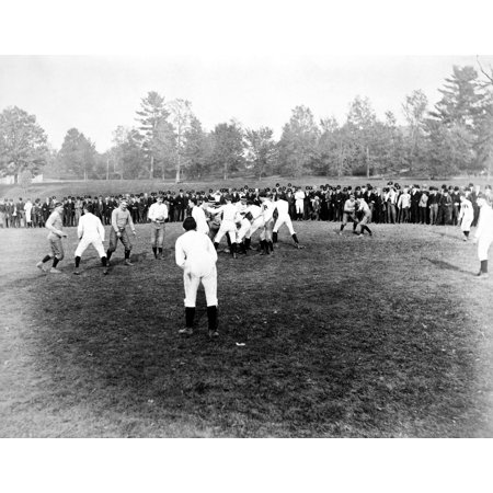 College Football 1889 Ncornell Vs Rochester 1889 Photographed By Seneca Ray Stoddard Rolled Canvas Art -  (24 x 36) College Football Art