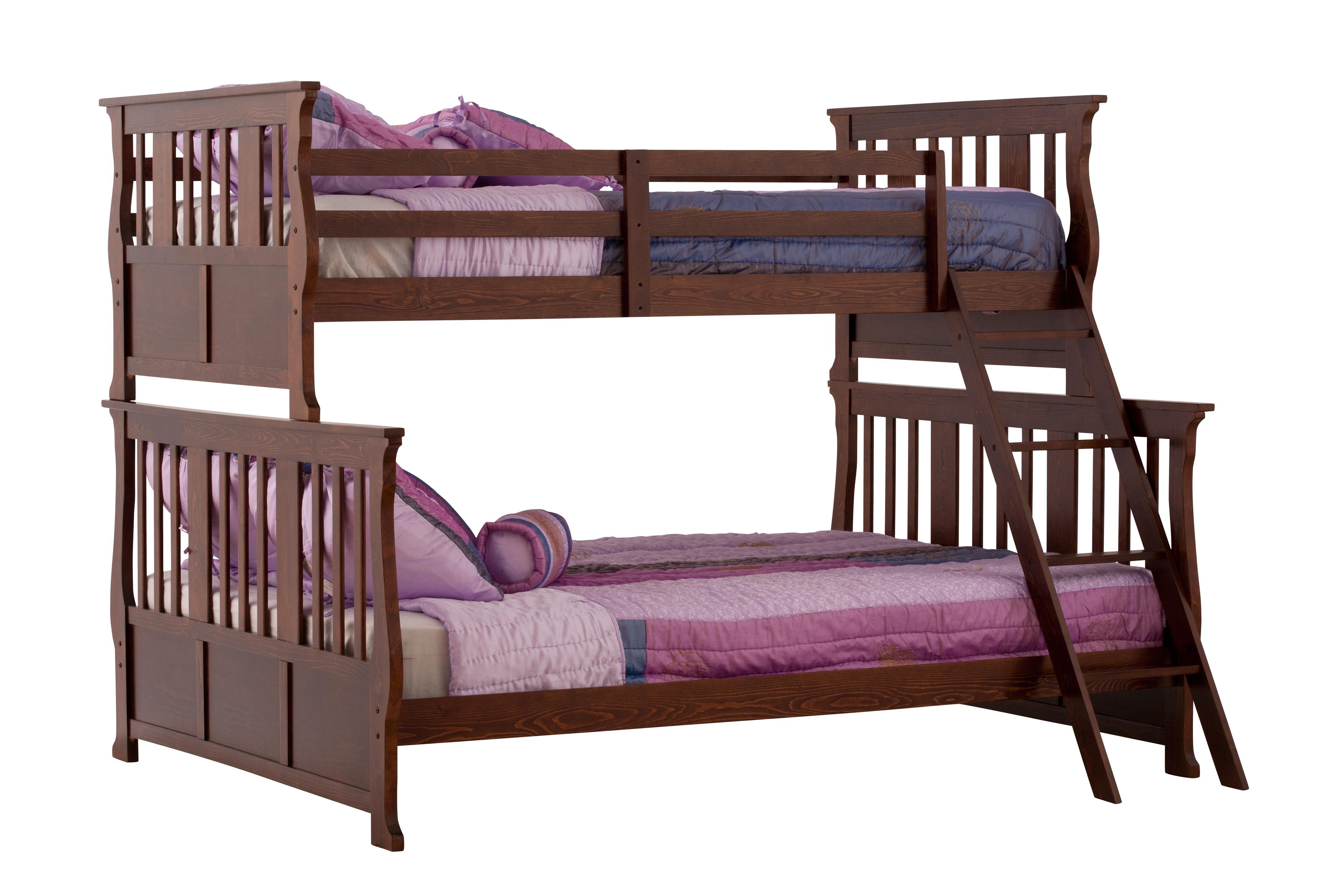 Carrara Twin Double Bunk Bed ColorEspresso