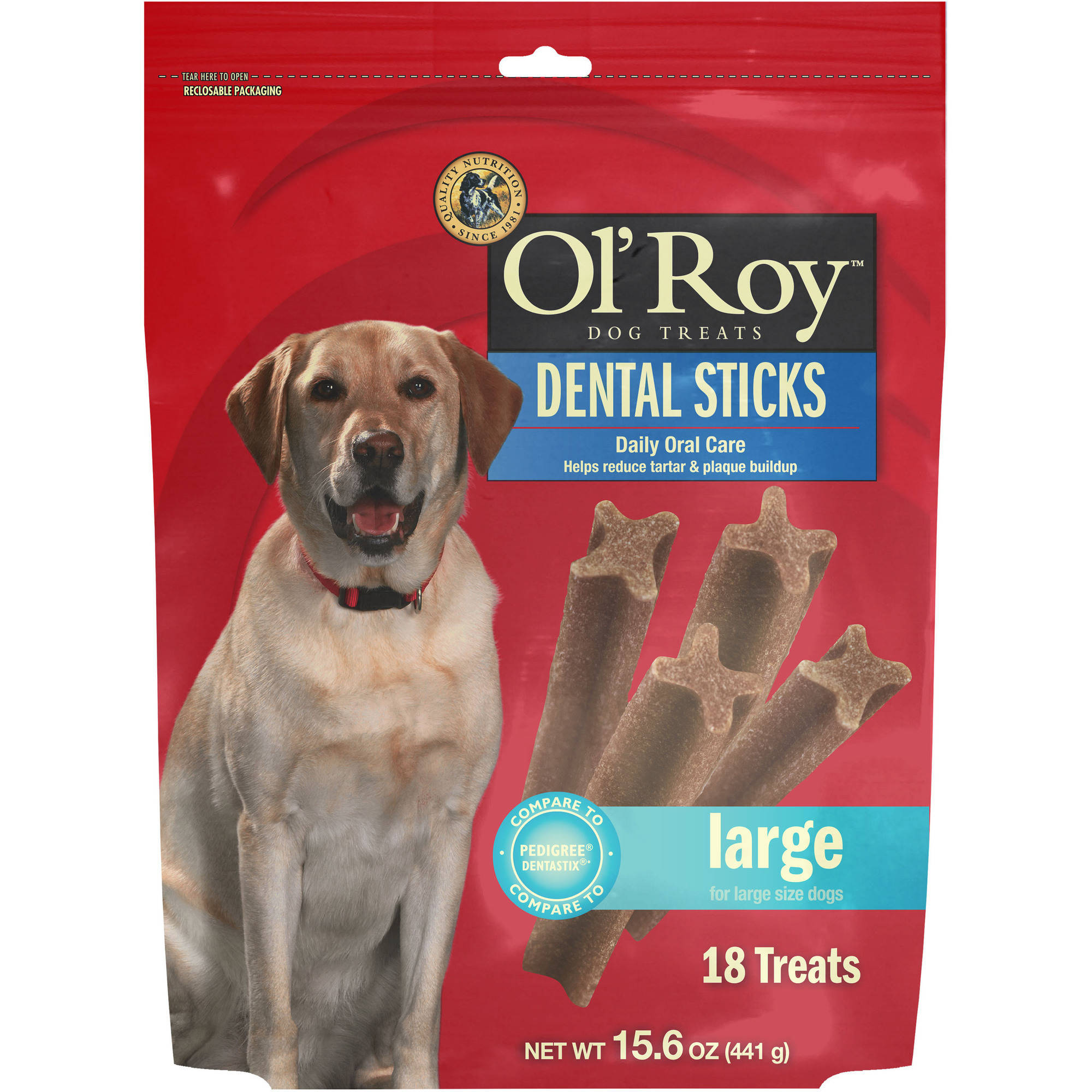 Ol'Roy Large Dental Sticks, 18-Count
