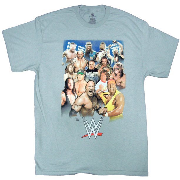 WWE 3 Era Group - Legends and Current Family Portrait Adult T-Shirt