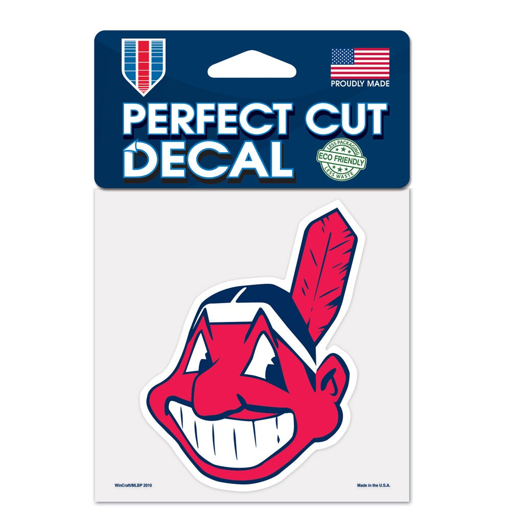 Cleveland Indians 4x4 Perfect-Cut Car Auto Decal Sticker