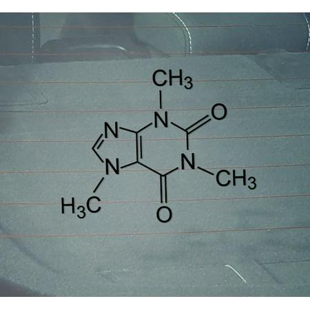 THC Molecule Decal Sticker | 5.5-Inches Wide | Black Vinyl
