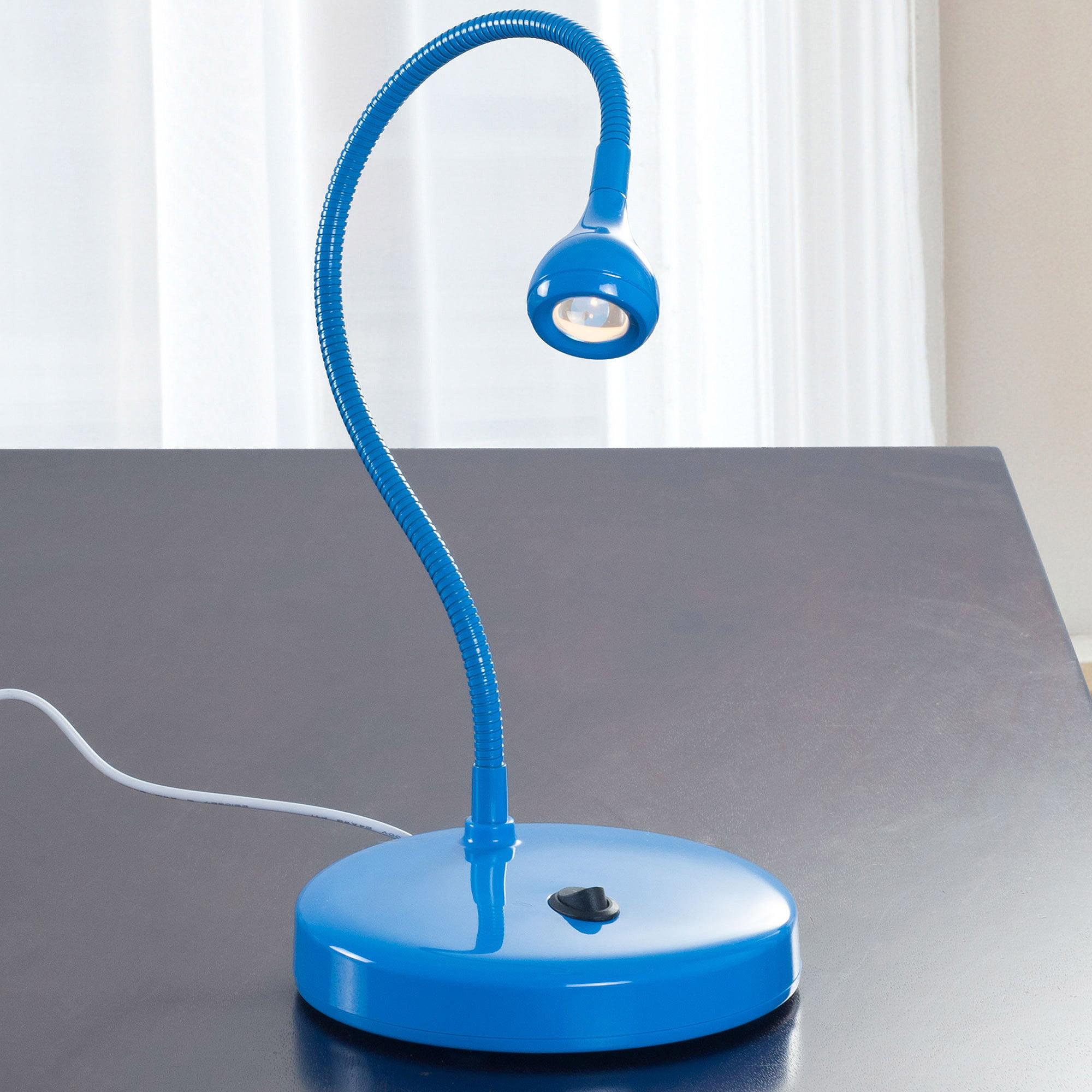 LED USB Adjustable Goose Neck Desk Lamp by Lavish Home