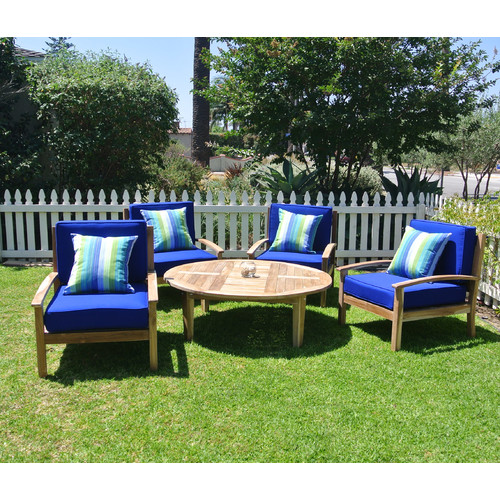 Willow Creek Designs Huntington 5 Piece Deep Seating Group with Cushion