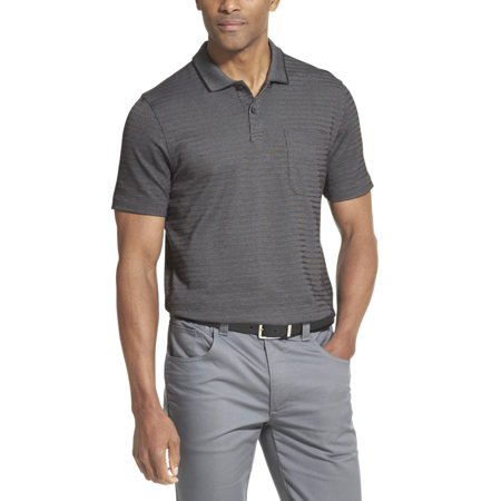 Van Heusen Men's Flex Striped Short Sleeve Polo