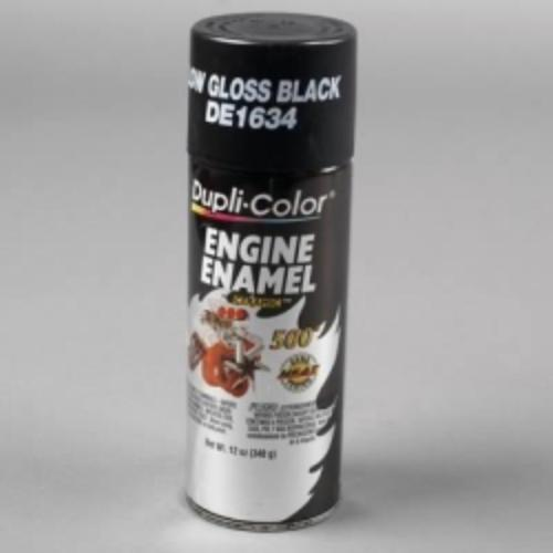 Krylon DE1634 Gm/chrysler Low Gloss Black Engine Enamel With Ceramic 12 Oz. Aerosol