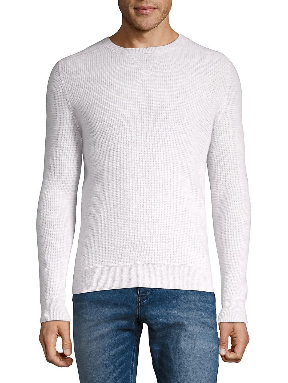 Crewneck Waffle-Knit Cashmere Sweater