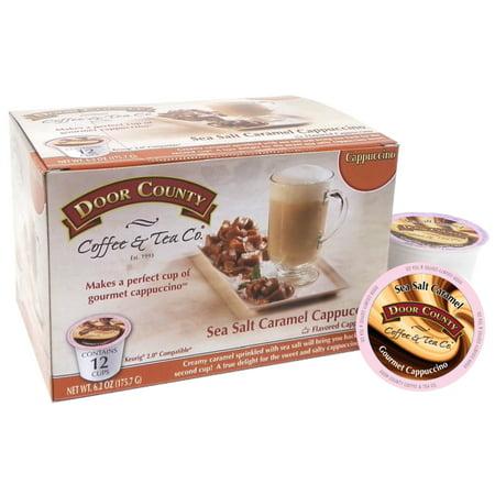 Coffee Orange County (Door County Coffee; Sea Salt Caramel Cappuccino Single Serve Cups;)