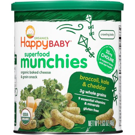 Happybaby Happymunchies Cheese   Vegetable Snack Baked Organic  1 63 Oz