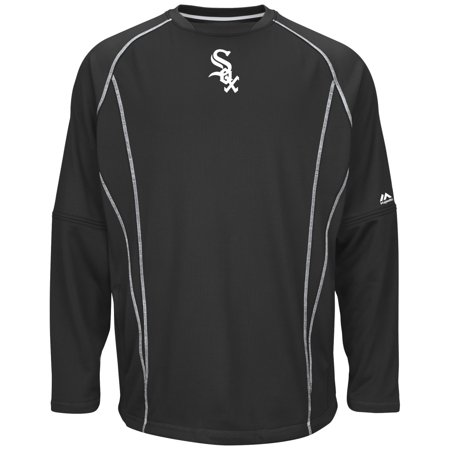 Chicago White Sox Majestic MLB Authentic On-Field Crew Pullover Sweatshirt by