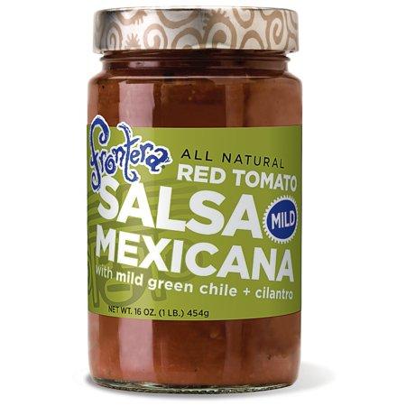 Frontera Salsa Mexicana Red Tomato With Mild Green Chile + Cilantro Mild, 16.0 OZ