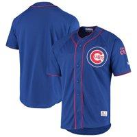 Men's Stitches Royal Chicago Cubs Raglan Jersey
