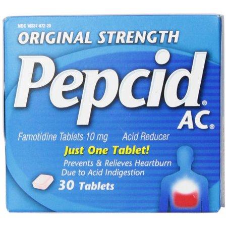 Pepcid AC Original Strength Acid Reducer Tablets, 30 Count