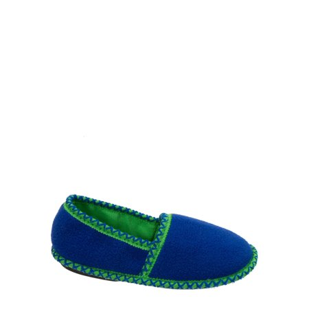 DF by Dearfoams Boys' Fleece Closed Back with Trim Slippers - Glass Slippers Are So Back