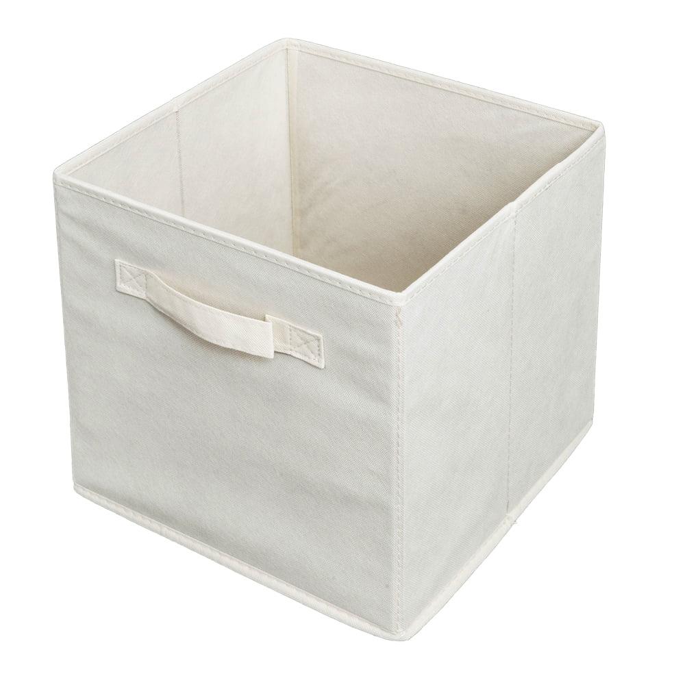 6Pcs Non-Woven Foldable Fabric Storage Box Cube Organizer Container Basket Beige