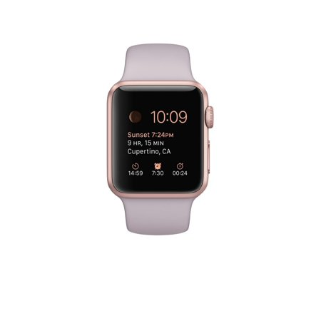 online store 23f28 1fdac Refurbished Watch 38mm Rose Gold Aluminum Case with Lavender Sport Band