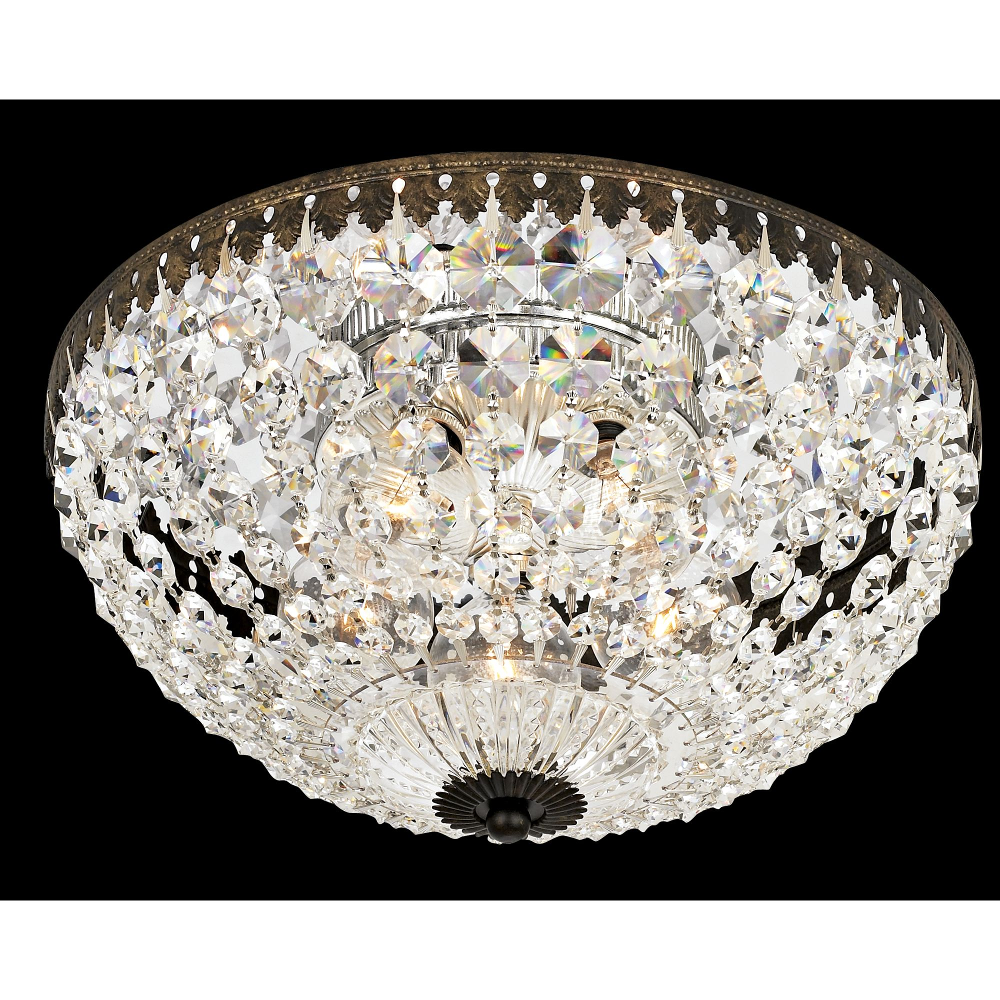 "Schonbek Empire Spectra Crystal 12"" Wide Ceiling Light by Schonbek"