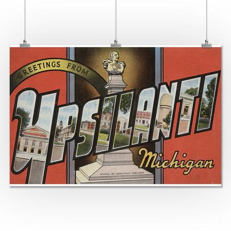 Greetings From Ypsilanti Michigan 24x36 Giclee Gallery