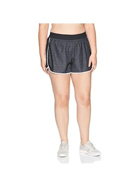 Womens Plus Size Active Woven Run Short - Spot on Grey, 5X