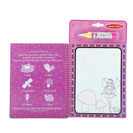 Greensen Portable Magic Water Coloring Drawing Book Kids Children