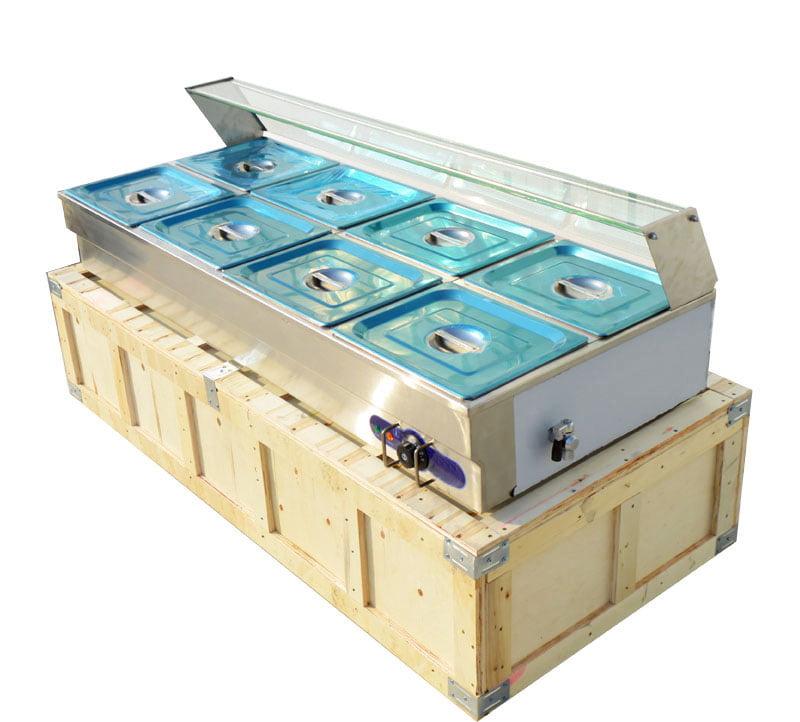 110V 8-Pan Bain-marie Buffet Food Warmer Steam Table by