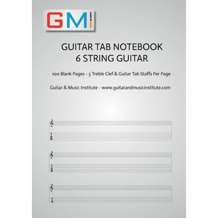 Guitar Tab Notebook - 6 String Guitar : 100 Pages of Blank Treble Clef and Six String Tab for Guitar - This Is Halloween Metal Guitar Tab