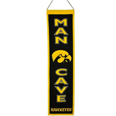 NCAA Man Cave Banner, University of Iowa Hawkeyes