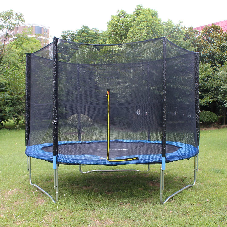 KORGOL Trampoline With Safety Net Ladder 8FT Jumper Gymnastic Fun Exercise Rebound