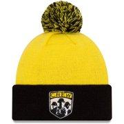 Columbus Crew SC New Era Since '96 Hooked Pom Cuffed Knit Hat - Yellow - OSFA