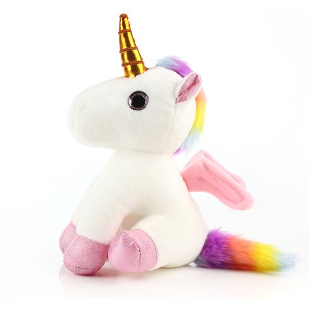 Rainbow Unicorn Stuffed Animal Plush Toy Gift (10 inches) for Girls, Kids, Toddlers Birthday and -