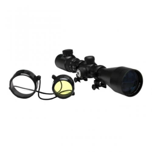 Barska 3-12x50 IR, Euro-30 Pro Riflescope, Black Matte, 30mm, 4A IR Dot 5/8'' Rings